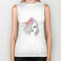 bow Biker Tanks featuring Bow by spllinter