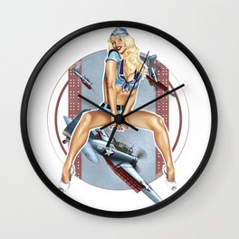 WWII Nose Art - Candyman Wall Clock