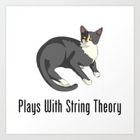 Plays With String Theory Art Print