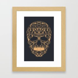 Skull ornament Framed Art Print