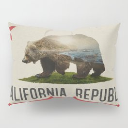 California Grizzly Bear Flag Pillow Sham
