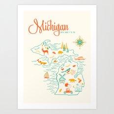 Michigan State Love  Art Print