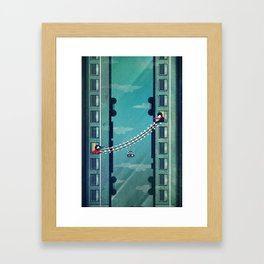 Farewell, my love! Framed Art Print