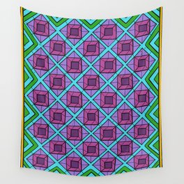 Squares in Diamonds Wall Tapestry