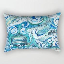 Shark wave Rectangular Pillow