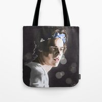 harry Tote Bags featuring Harry by Judit Mallol