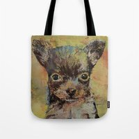 chihuahua Tote Bags featuring Chihuahua by Michael Creese