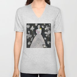 Lady in Gown 2 Unisex V-Neck