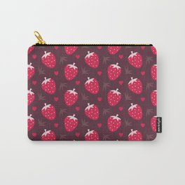 STRAWBERRIES AND CHOCOLATE Carry-All Pouch