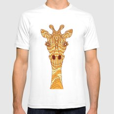 Giraffe 2 Mens Fitted Tee SMALL White