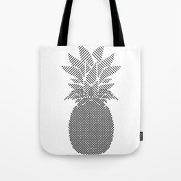 Black and White Pattern Pineapple Artwork Tote Bag