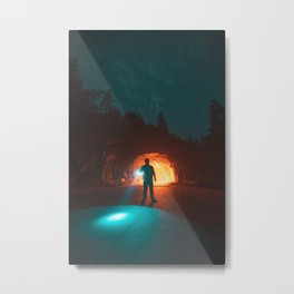 Searching The Tunnels Of Yosemite Metal Print