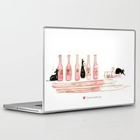 alcohol Laptop & iPad Skins featuring Alcohol Addiction by Zennore