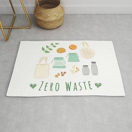 Zero Waste Shopping Illustration Rug