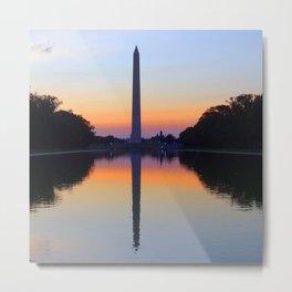 Washington Monument and Reflection Pool Metal Print
