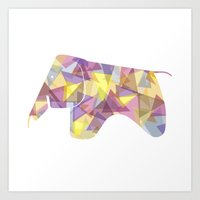 eames Art Prints featuring Eames Elephant by Melissa Nocero