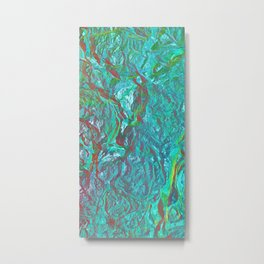 Holographic gradient Metal Print