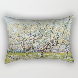 The White Orchard by Vincent van Gogh Rectangular Pillow