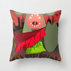 Attack of my Imagination Throw Pillow