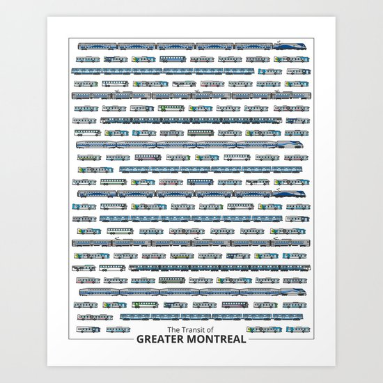 The Transit of Greater Montreal Art Print