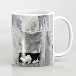 The cat and the nude Coffee Mug