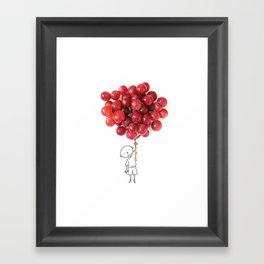 Boy with grapes - NatGeo version Framed Art Print