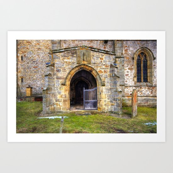 Holy Trinity Church, Wensley Art Print