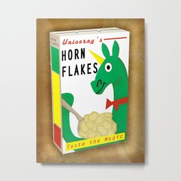 Horn Flakes Cereal Metal Print