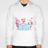 animal crossing Hoodies featuring Animal Crossing :: Cake time by Magnta