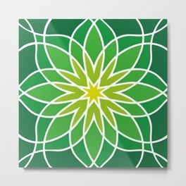 Shades of Green | Geometric Pattern Metal Print