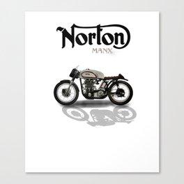 Vintage Norton Manx Super Bike Canvas Print