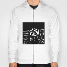 Black and white abstract pattern of Roses. Triangles .1 Hoody