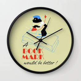A bookmark would be better retro style Wall Clock