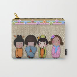 4 kokeshi dolls Carry-All Pouch