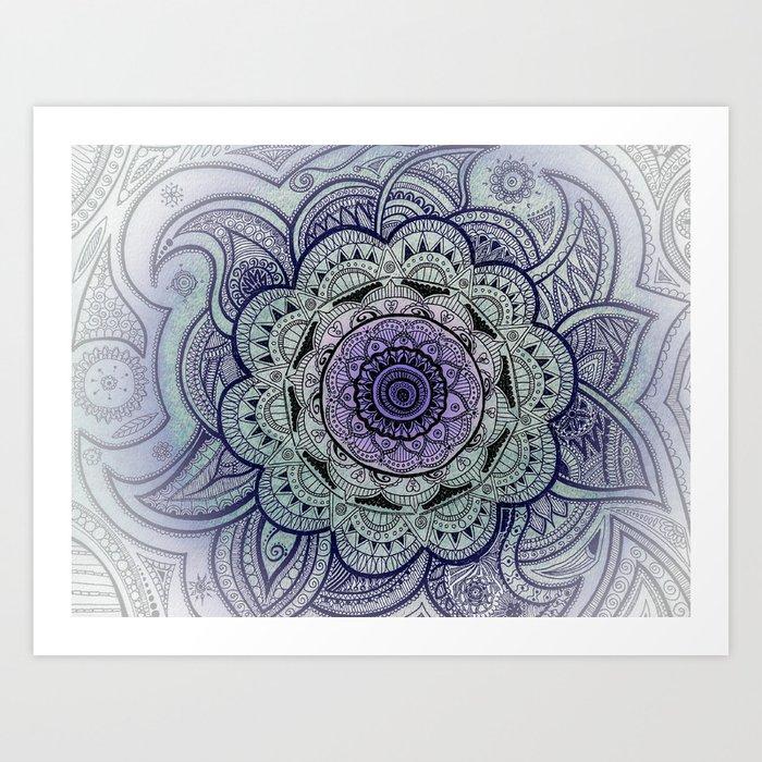 Mandala Purple Art Print