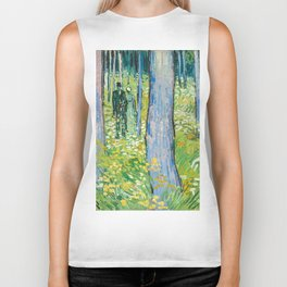 Undergrowth with Two Figures by Vincent van Gogh Biker Tank