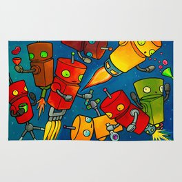 Robot - Robot Party 2 (Zero Gravity) Rug