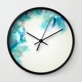 Floral Mist Peacock Blue Wall Clock