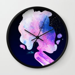 Dreaming of summer starry night in melted popsicle Wall Clock