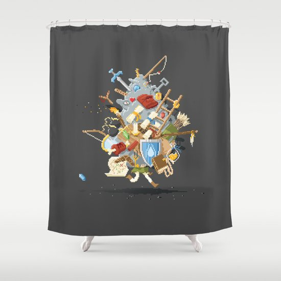It's Dangerous to go alone, Take This. Shower Curtain