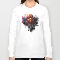red hood Long Sleeve T-shirts featuring Red Hood by Vincent Vernacatola