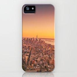 New York City Sunset Skyline iPhone Case