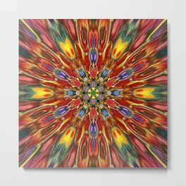 Multicolour Starburst 1 Metal Print