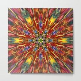 Multicolour Starburst 1 Metal Print