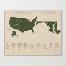 US National Parks - Maryland Canvas Print
