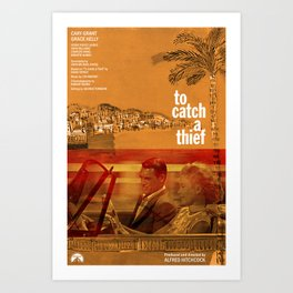 Hitchcock: To Catch A Thief Art Print