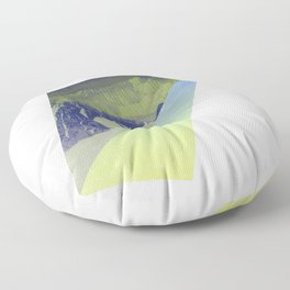 Triangle Mountains Floor Pillow