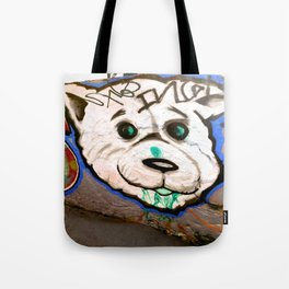 Doggy on the Wally Tote Bag