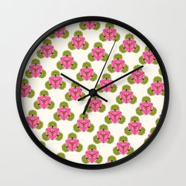 Liriodendron diagonal Wall Clock