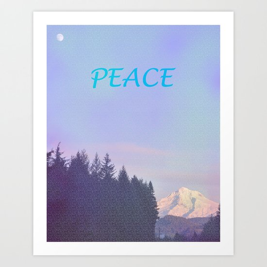 PEACE ON MOUNT HOOD Art Print